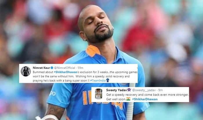 Shikhar Dhawan, Shikhar Dhawan Twitter, Shikhar Dhawan injury, Shikhar Dhawan ruled out of World Cup 2019, ICC World Cup 2019, Indian Cricket Team, Ind vs NZ, Team India, Cricket News
