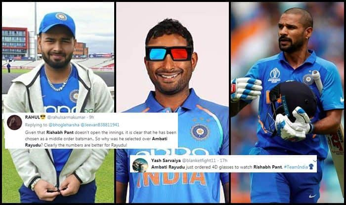 Ambati Rayudu, Ambati Rayudu trolled, Rishabh Pant, Rishabh Pant replaces Shikhar Dhawan, Shikhar Dhawan, Indian Cricket Team, ICC Cricket World Cup 2019, ICC World Cup 2019, Cricket News
