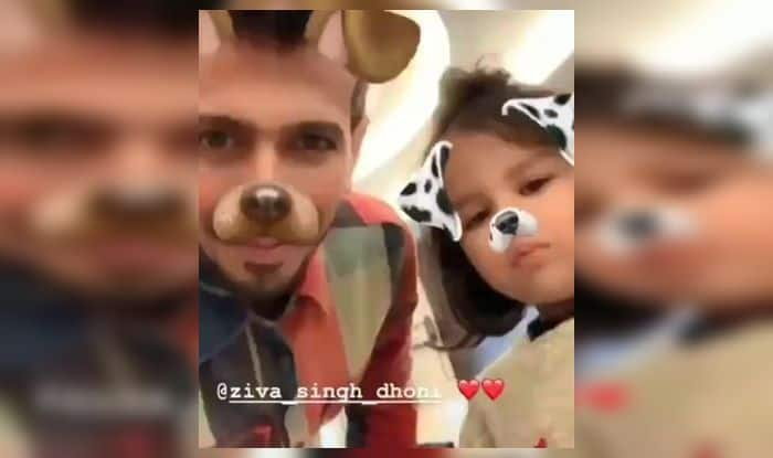 MS Dhoni, Ziva, Yuzvendra Chahal, Rishabh Pant, ICC Cricket World Cup 2019, ICC World Cup 2019, Cricket News, Manchester, Indian Cricket Team, Team India, Old Trafford, Snapchat, Snapchat filters