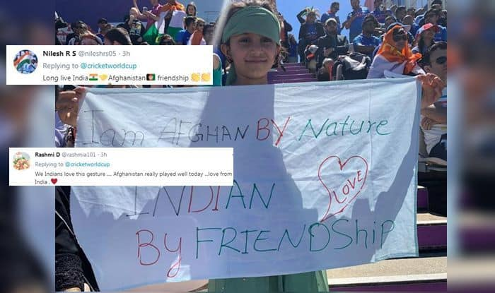 Little Afgan Fan, India-Afghanistan Friendship, Spirit of Cricket, India vs Afghanistan, Virat Kohli, Team India Memes, Ind vs Afg, ICC Cricket World Cup 2019, ICC World Cup 2019, Southampton, Rose Bowl, Cricket News, India loses DRS, Girl Fan