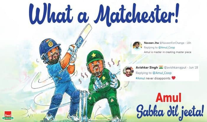 India vs Pakistan, Amul, Amul ad, Ind vs Pak, India beat Pakistan, Old Trafford, Manchester, Cricket News, ICC Cricket World Cup 2019, ICC World Cup 2019