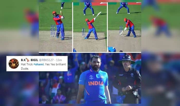 Mohammed Shami, Shami hattrick, Mohammed Shami wickets, India vs Afghanistan Twitter reactions, India win, Afghanistan trolled, Team India, Twitter reactions, India vs Afghanistan, India beat Afghanistan by 11 runs, Team India Memes, Ind vs Afg, ICC Cricket World Cup 2019, ICC World Cup 2019, Southampton, Rose Bowl, Cricket News, Rashid Khan