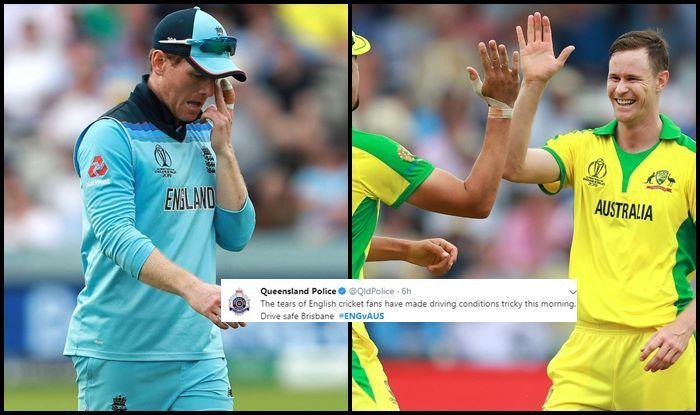 Australia vs England, England vs Australia, Australia beat England by 64 runs, Eng vs Aus, ICC Cricket World Cup 2019, ICC World Cup 2019, Cricket News, Lords, Queensland Police, England semi-final chance, England Cricket Team