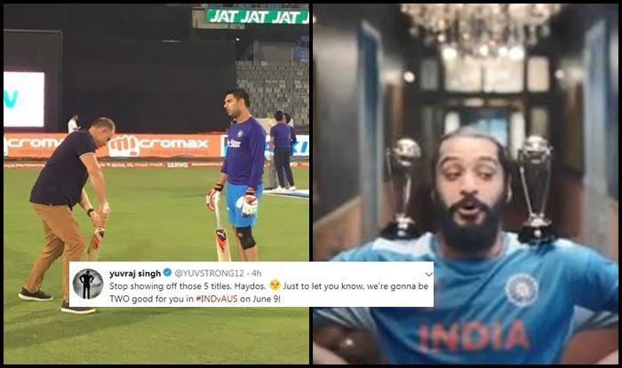 Yuvraj Singh, Matthew Hayden, ICC Cricket World Cup 2019, ICC World Cup 2019, Ind vs Aus, Aus vs Ind, Indian Cricket Team, Cricket News, Australian Cricket Team, Yuvraj Singh trolls Hayden