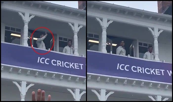MS Dhoni, MS Dhoni waves, Ind vs Nz, NZ vs Ind, India vs New Zealand, ICC Cricket World Cup 2019, ICC World Cup 2019, Cricket News, Trent Bridge, Nottingham, Indian Cricket Team, Rain, Bad Weather