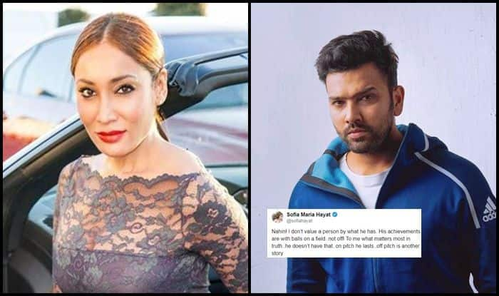 Sofia Hayat, Sofia Hayat model, Sofia Hayat pictures, Sofia Hayat-Rohit Sharma relationship, Rohit Sharma centuries, Rohit Sharma records, India vs Afghanistan, ICC Cricket World Cup 2019, ICC World Cup 2019, Cricket  news, Indian Cricket Team