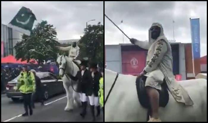 India vs Pakistan, Virat Kohli, Pakistan Fan, Fan comes on a horse, Ind vs Pak, Pak vs Ind, ICC Cricket World Cup 2019, ICC World Cup 2019, Manchester, Old Trafford, Indian Cricket Team, Pakistan Cricket Team, Green Signal, Cricket News