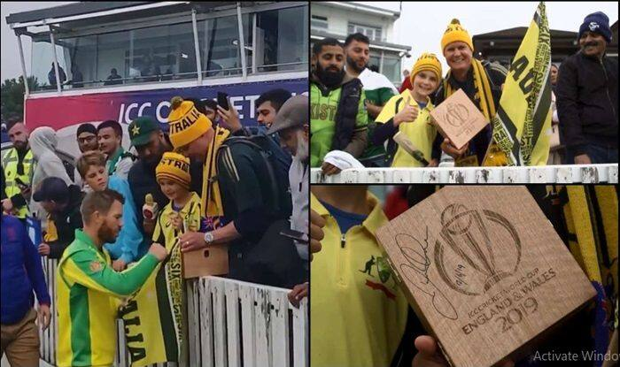 David Warner, Australia beat Pakistan, Aus vs Pak, ICC Cricket World Cup 2019, ICC World Cup 2019, David Warner gives man of the match to young fan, Cricket News, Australian Cricket Team