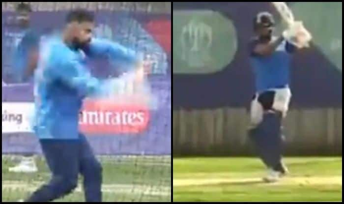 Hardik Pandya, Virat Kohli, Kohli imitates Hardik, Southampton, Ageas Bowl, Rose Bowl, India vs Afghanistan, Ind vs Afg, ICC Cricket World Cup 2019, ICC World Cup 2019, Cricket News, Indian Cricket News, Team India