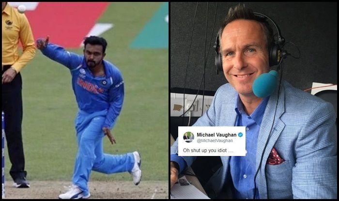 Michael Vaughan, Michael Vaughan calls Idiot, ICC Cricket World Cup 2019, ICC World Cup 2019, Indian Cricket Team, Kedar Jadhav, Kedar Jadhav action, Cricket News