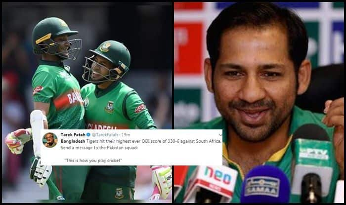 ICC Cricket World Cup 2019, Author Tarek Fatah, Tarek Fatah TROLLS Pakistan, Bangladesh Cricket Team, Rise of The Tigers, Register Highest-Ever Total in CWC Ever, Bangladesh vs South Africa, Cricket News, Pakistan Cricket Team, Ban vs SA, SA vs Ban