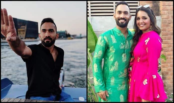 Dinesh Karthik, Dipika Pallikal, ICC World Cup 2019, ICC Cricket World Cup 2019, India vs South Africa, Ind vs SA, SA vs Ind, Indian Cricket Team, South African Cricket Team, Hardik Pandya