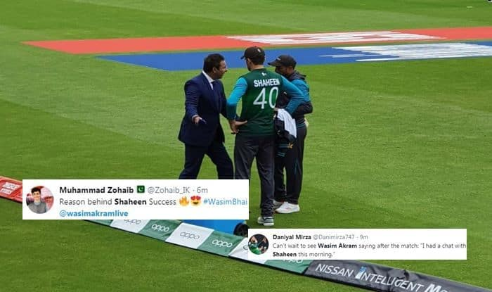 Shaheen Afridi, Shaheen Afridi Twitter, Shaheen Afridi wickets, Wasim Akram, Wasim Akram advising Shaheen, Mohammad Amir, Pak vs NZ, NZ vs Pak, ICC Cricket World Cup 2019, ICC World Cup 2019, Pakistan Cricket Team, Pakistan Cricket Team, Cricket News, ICC, Sarfaraz Ahmed Moods, Blackcaps, Kiwis