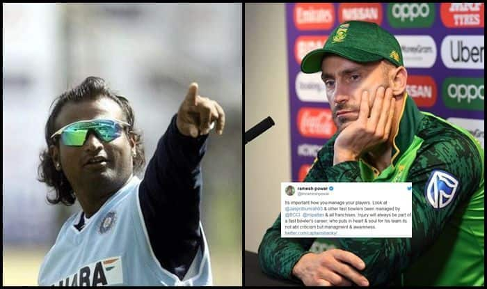 Ramesh Powar, Ramesh Powar stirs controversy, Jasprit Bumrah, ICC Cricket World Cup 2019, ICC World Cup 2019, Faf du Plessis, IPL, Kagiso Rabada, Cricket News