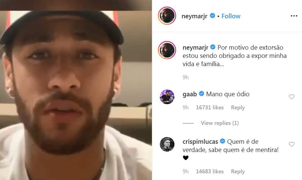 Neymar Denies Rape Allegation In Instagram Post | WATCH VIDEO