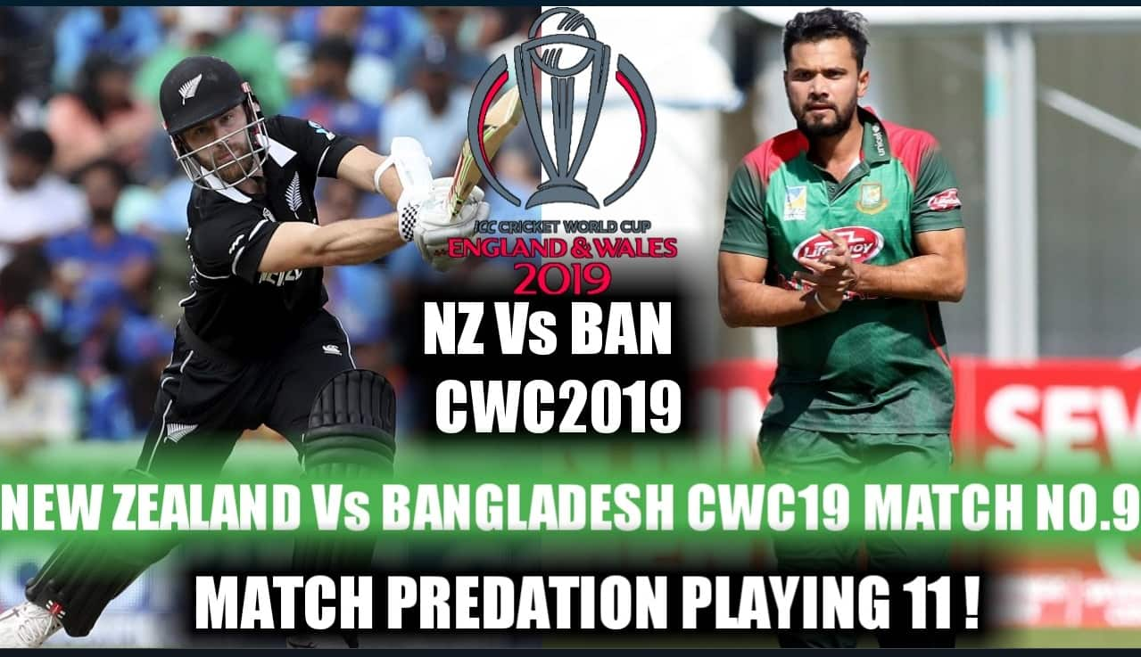 Dream11 Team Bangladesh vs New Zealand ICC Cricket World Cup 2019 – Cricket Prediction Tips For Today's Match BAN vs NZ at The Kennington Oval, London