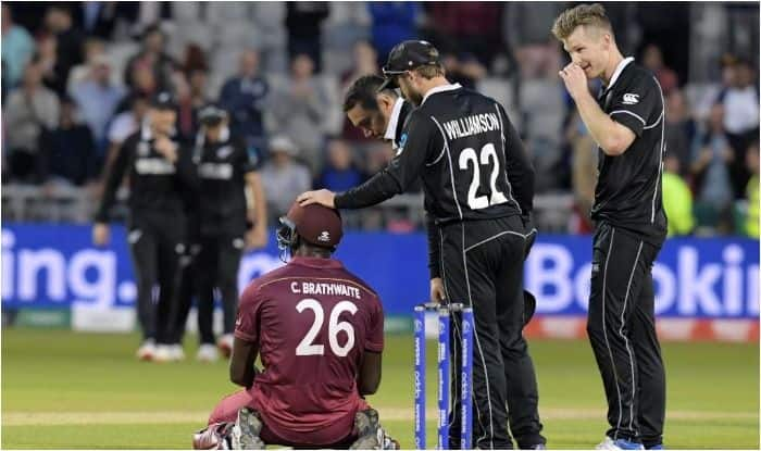 ICC Cricket World Cup 2019, New Zealand vs West Indies, NZ vs WI Match Report, NZ vs WI World Cup, World Cup 2019, Kane Williamson, Trent Boult, Carlos Brathwaite, World Cup Report, Cricket News, NZ vs WI WC Match Report