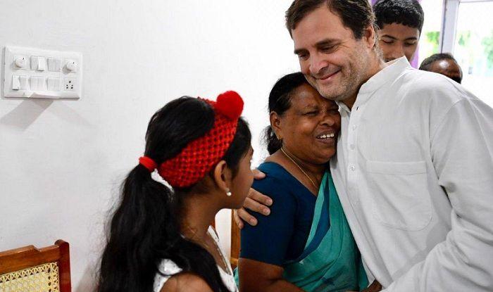 Rahul Gandhi Meets Rajamma, a Retired Nurse Who Witnessed His Birth