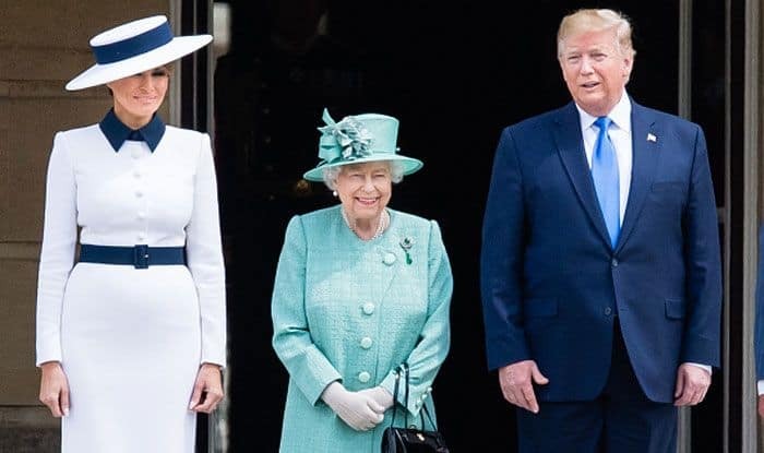 Melanie Trump, Queen Elizabeth II and Donald Trump. Photo Courtesy: Getty Images
