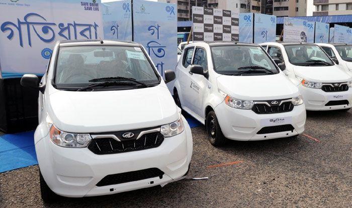 Mahindra electric vehicles. Photo Courtesy: IANS