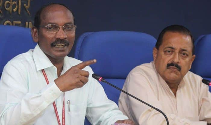 ISRO chairman K Sivan with Union Minister Jitendra Singh. Photo Courtesy: IANS