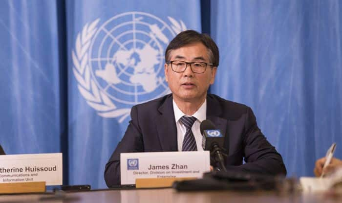 UNCTAD's Director of Investment and Enterprise James Zhan. Photo Courtesy: IANS