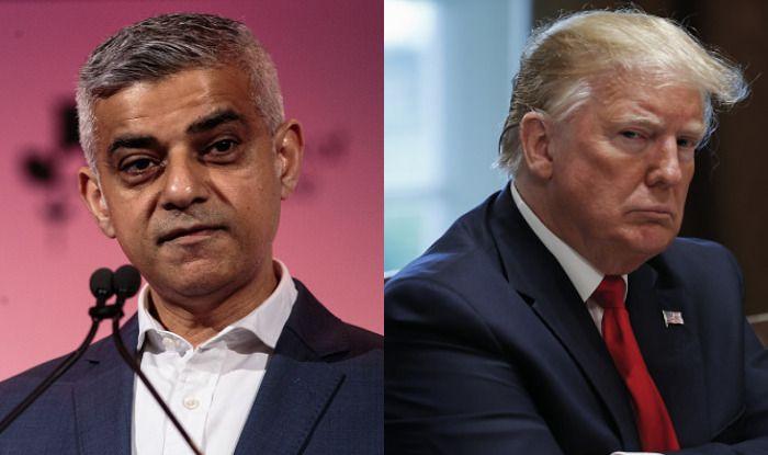 London Mayor Sadiq Khan and US President Donald Trump. Photo Courtesy: Getty Images