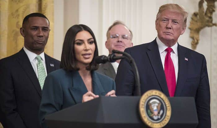 Kim Kardashian West and US President Donald Trump. Photo Courtesy: Getty Images