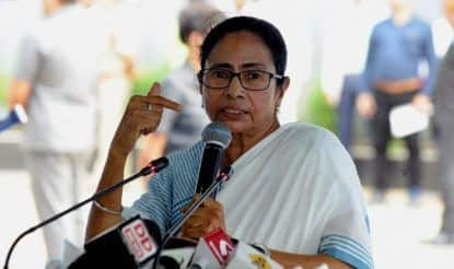 Posters Showing Mamata Banerjee's Morphed Image Surface in Indore