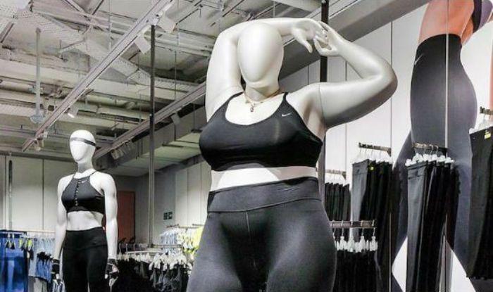Nike plus-size mannequin