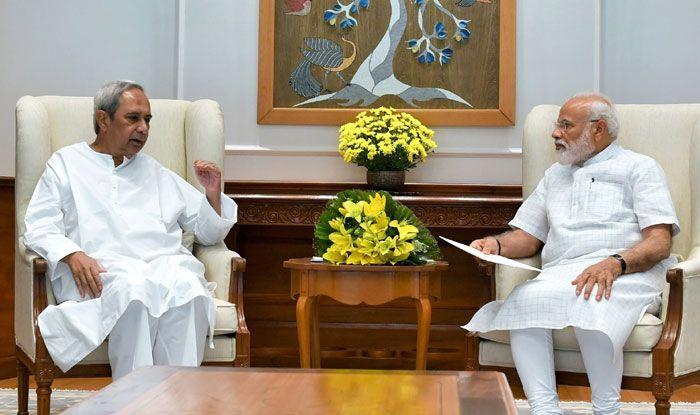 Naveen Patnaik meeting with PM Narendra Modi. Photo Courtesy: IANS
