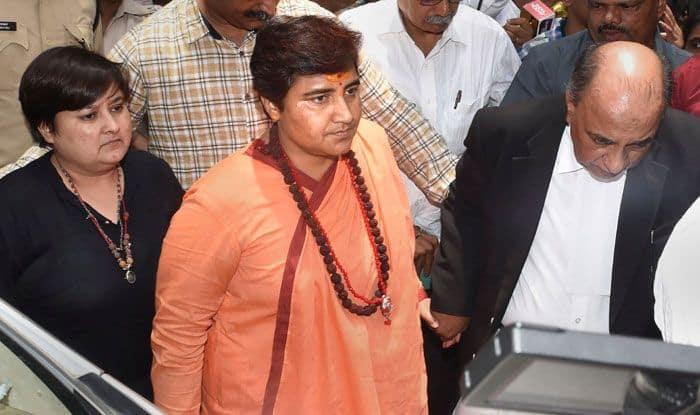 Pragya Singh Thakur in court. Photo Courtesy: PTI
