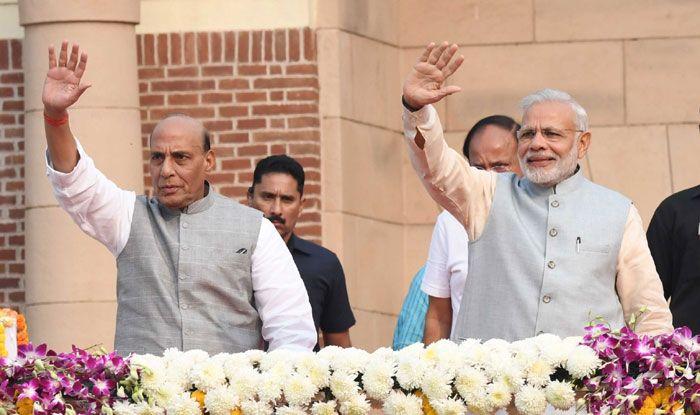 Rajnath Singh with Narendra Modi. Photo Courtesy: IANS