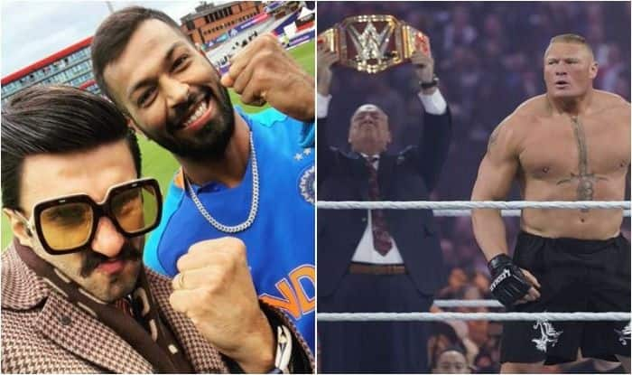 Ranveer Singh, Brock Lesnar, Ranveer Singh Receives Warning, Paul Heyman, ICC Cricket World Cup 2019, India vs Pakistan, Brock Lesnar-Ranveer Singh, World Cup 2019, Ranveer Singh-Hardik Pandya, Brock Lesnar manager warns Ranveer Singh, Cricket News, WWE News