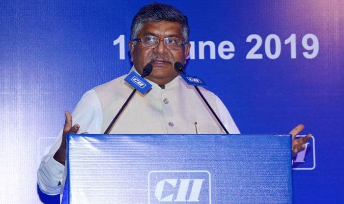 Electronics and Information Technology minister Ravi Shankar Prasad. Photo Courtesy: IANS