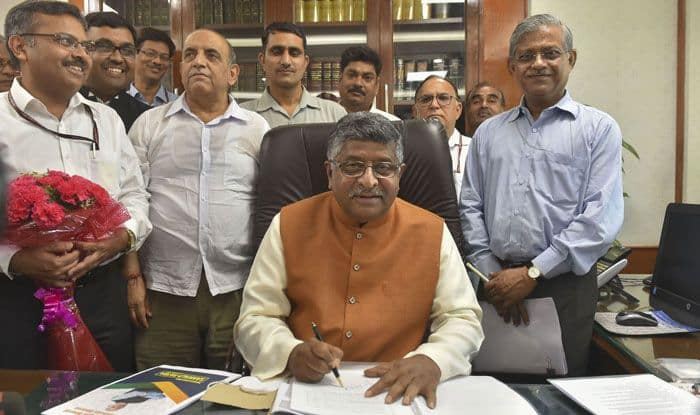 Telecom Minister Ravi Shankar Prasad. Photo Courtesy: PTI