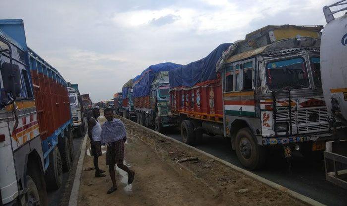 Road blockade, Indo-Nepal border, Bihar, Araria