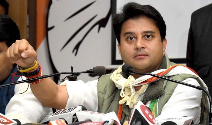 Congress leader Jyotiraditya Scindia. Photo Courtesy: IANS