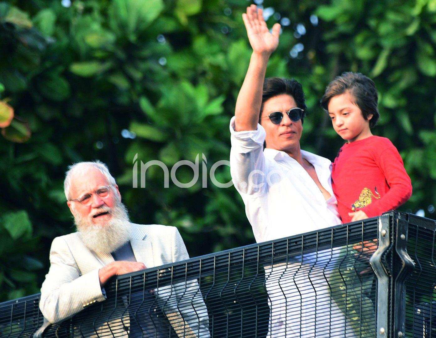 Shah Rukh Khan, AbRam Khan, David Letterman