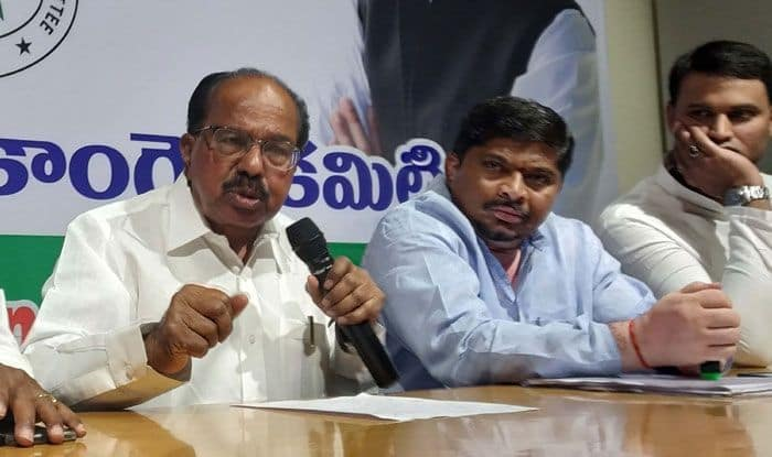 Senior Congress leader M Veerappa Moily. Photo Courtesy: IANS
