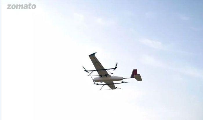 Zomato testing drone. Photo Courtesy: Twitter/@Zomato
