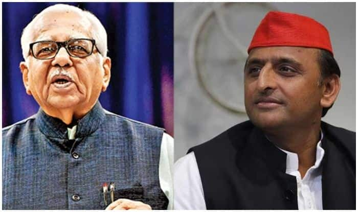 Akhilesh Meets UP Governor Ram Naik, Asks Him to 'Wake up' CM Yogi to Prevailing 'Jungle-Raj' in State