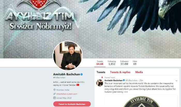 Amitabh Bachchan's Twitter Handle Hacked, DP Replaced With Pakistan PM Imran Khan, Bio Says 'Love Pakistan'