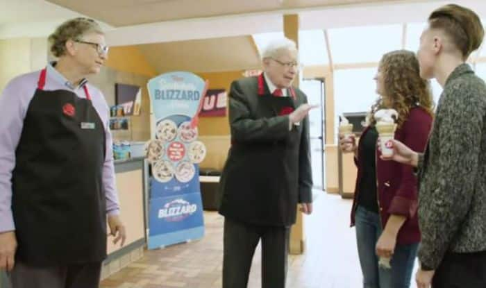 Bill Gates, Warren Buffett Surprise Dairy Queen Customers by Serving Them Ice Creams in Omaha