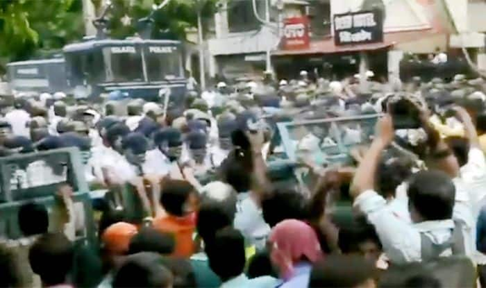 BJP Protests Death of Party Workers, Kolkata Police Uses Tear Gas