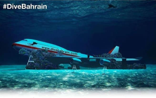 Bahrain Sinks Boeing 747 Worth 0,000 For an Underwater Theme Park, Watch Here
