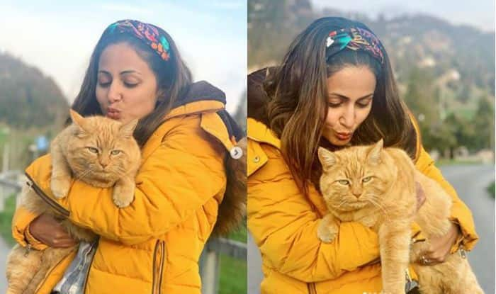 Hina Khan Looks Pretty in Yellow, But This Fluffy Cat in Her Switzerland Pics is Winning Our Hearts