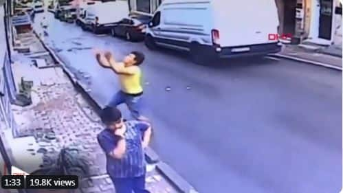 Dramatic Video Shows Teenager Catching 2-Year-Old Girl Falling From Second Floor in Istanbul