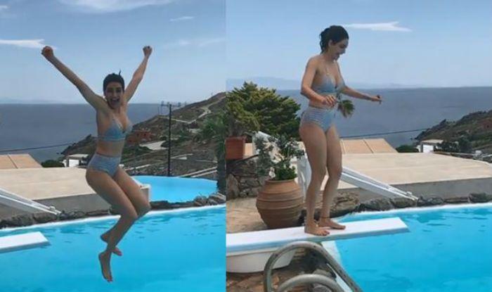 Karishma Tanna Perfectly Dives in Pool in Bikini, Looks Hot in Slo Mo Video