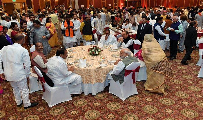 Prime Minister Narendra Modi Hosts Dinner For All MPs